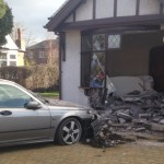 An elderly man in Preston had to be pulled from the wreckage of his car after crashing into his own house. Taken from a report in the Lancashire Evening Post